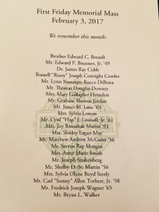 Memorial Mass Names
